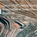 Latest MIMT Restriction on Exportation of Some Mineral Products