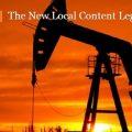 New Local Content Legislation